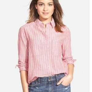 NEW Ace Delivery Stripe Button Down Shirt